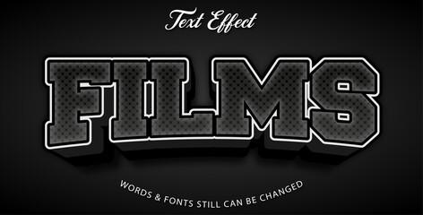 Wall Mural - Films editable text effect