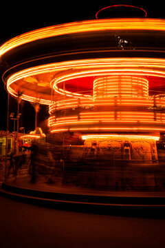 Carousel at night in Paris
