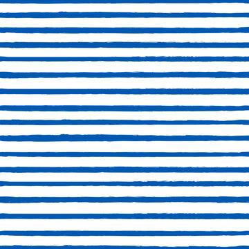 Universal unisex dark navy blue nautical marine coastal seamless repeat pattern with grunge torn texture jagged vector horizontal thin skinny stripe