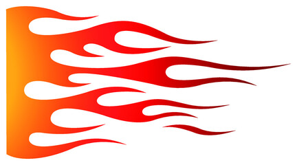 Fototapeta Tribal hotrod muscle car flame graphic for hoods, sides and motorcycles. Can be used as decal, sticker or tattoos too. obraz