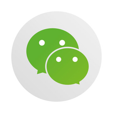 social media logo, wechat messaging and free call