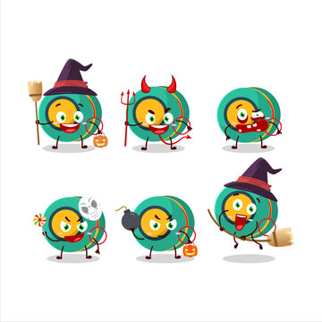Halloween expression emoticons with cartoon character of kids yoyo
