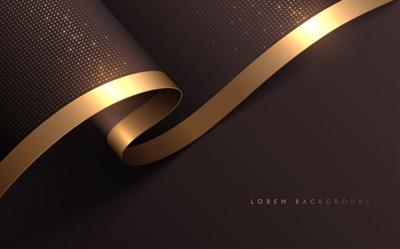 Soft background with gold line and dots