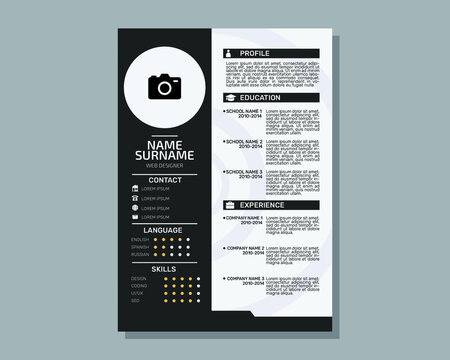 Personal Resume/CV modern template design.Editable