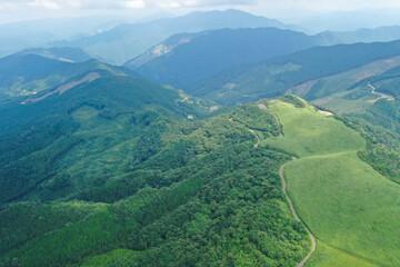 徳島県三好市 塩塚高原の風景