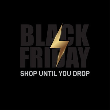 Black Friday announcement poster design. Shopping time. Black Friday banner design. Vector illustration