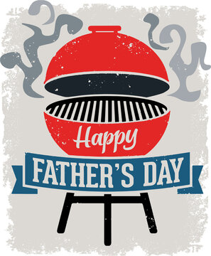 Happy Father's Day BBQ Grill Design