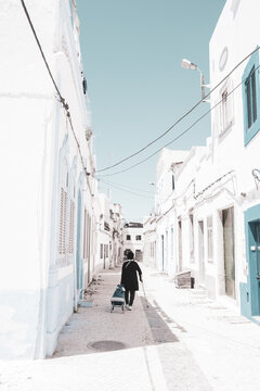 In the streets of Olhao, Algarve, Portugal