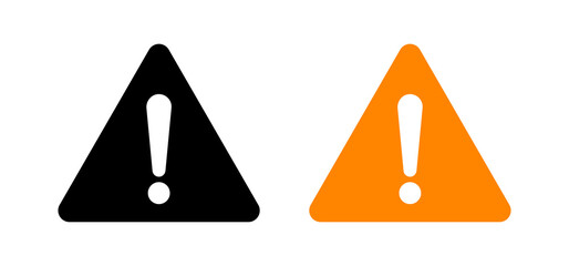 Attention sign, caution exclamation triangle icon, alert warning vector icon. Attention warning sign, danger risk exclamation point Wall mural