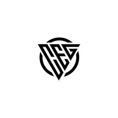 Obraz Initial letter CEG triangle monogram clean modern simple vector logo - fototapety do salonu