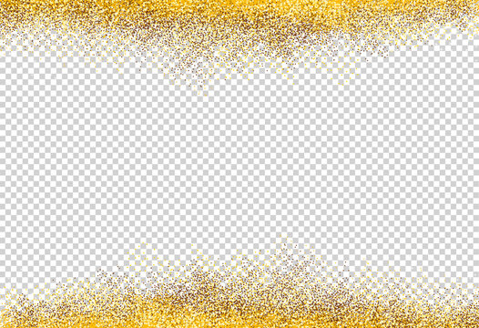 Gold glitter particles isolate on png or transparent  background with sparkling  snow, star light  for Christmas, New Year, Birthdays, Special event, luxury card,  rich style.  vector illustration