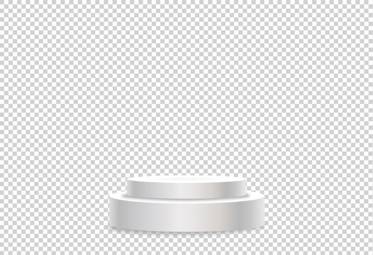 White podium or  showcase to place products  isolate on png or transparent  background for new product, promotion, advertising, vector illustration