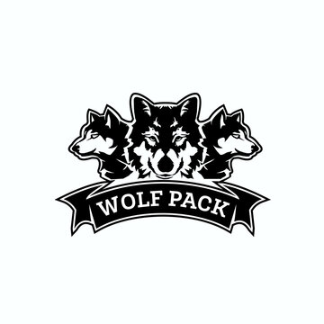 wolf pack logo exclusive design inspiration