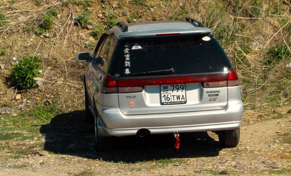 Kazakhstan, Ust-Kamenogorsk, may 2, 2020: Subaru Legacy second generation (1993–1999) – BD, BG, BK