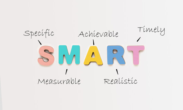 Acronym Of Smart Made Of Words Over White Office Background