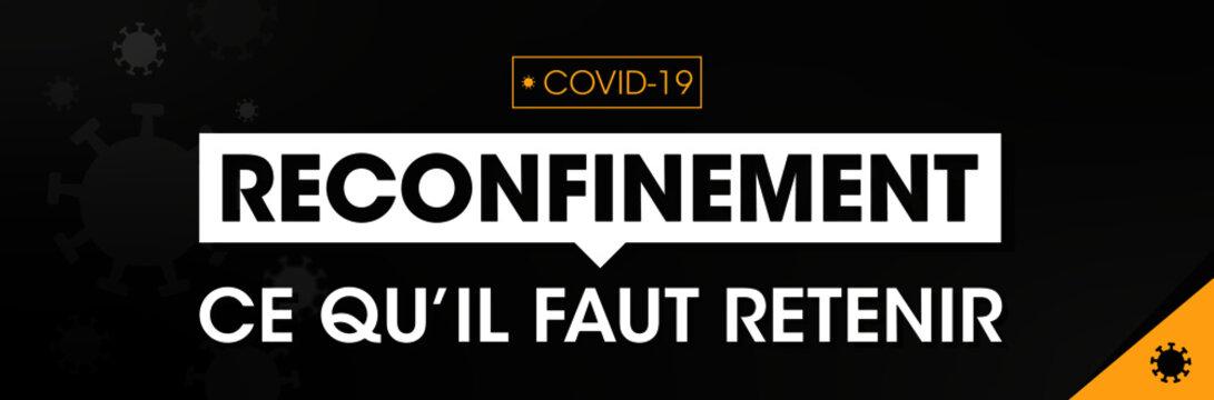 Reconfinement Bannière COVID-19