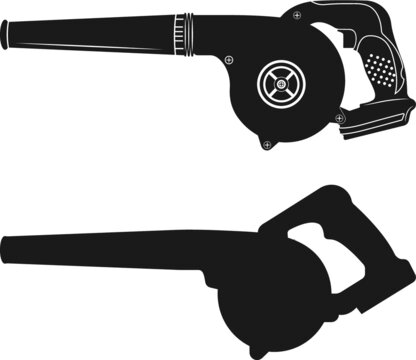 blower, electric blower, leaf blower, Blower vector symbol Icon design. Blower vector icon set. blower sign,  Black vector illustration on white background.