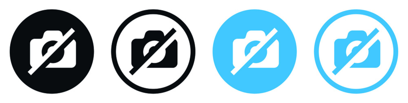 No camera icon, No Photography Sign, no photo, not to take photographs for apps and websites
