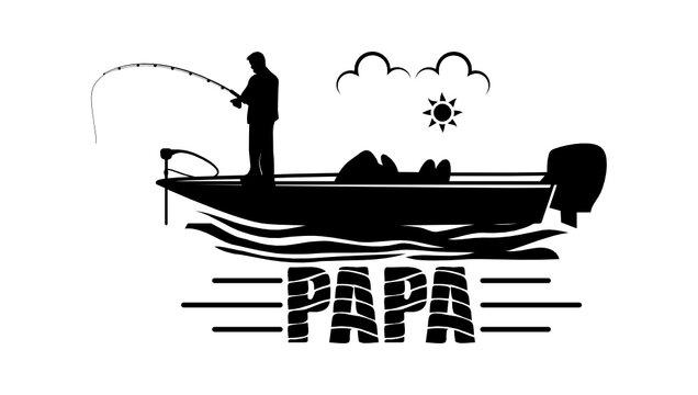 Papa fishing svg, Papa bass boat, Bass boat svg, Cut file, for silhouette, svg, clipart, cricut design space, vinyl cut file