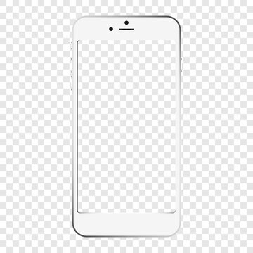 vector image of a white iPhone on a transparent background