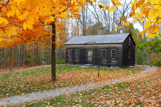 The Robbins House in Autumn. The house is formerly inhabited by the first generation of descendants of enslaved African American Revolutionary War C. Robbins