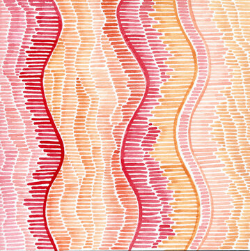 DNA inspired watercolor abstract art
