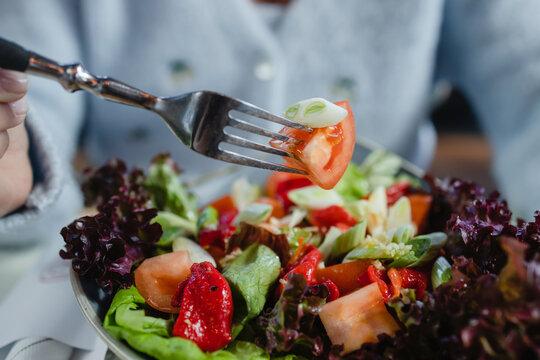 Bowl Of Spring Salad.