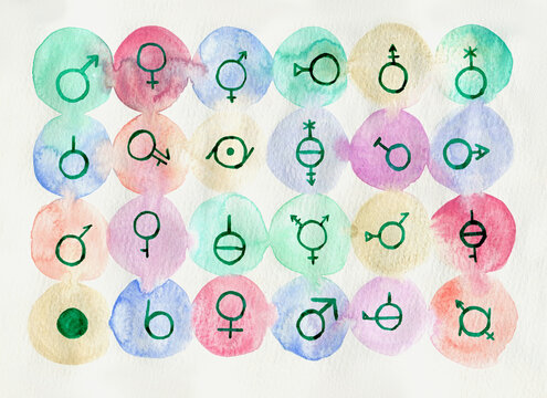 Collection of genders symbols