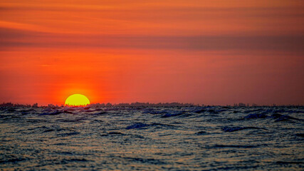 Sea sunset scenery photography