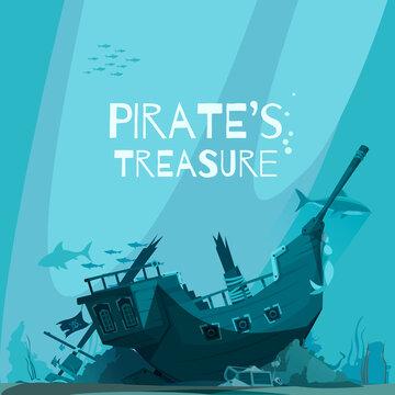 Sunken Pirate Vessel Background