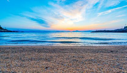 Sunset scenery at Yangchou Bay Beach, Nan'ao, Shenzhen, China
