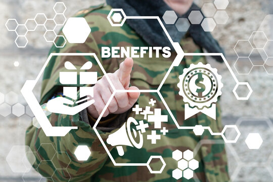 Benefits Soldiers Bonuses Concept. Soldier Benefit.
