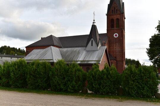 Small chapel and Roman Catholic Parish of St. Teresa of the Child Jesus, Szymbark, Kashubia, Pomerania, Poland.