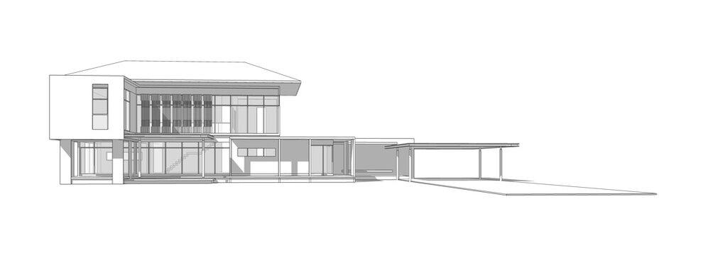 3D illustration of house design