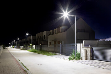 safe residential area with modern LED lighting Fotomurales