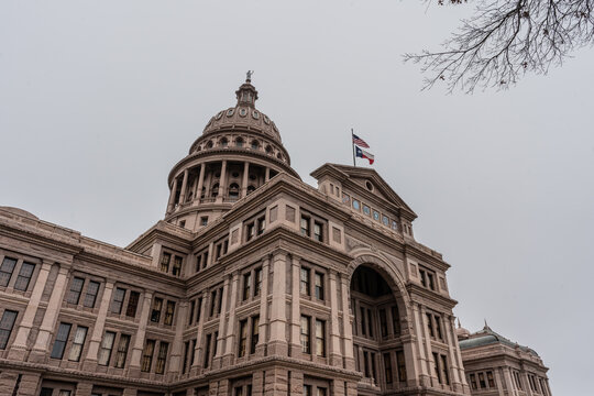 Texas capitol building in Austin on exterior
