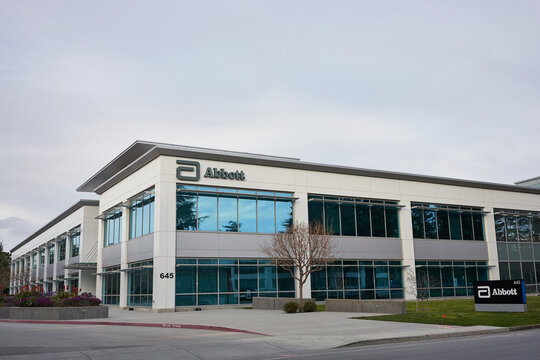 Sunnyvale, CA, USA - Feb 29, 2020: American medical devices and health care company Abbott Laboratories corporate office in Sunnyvale, California.