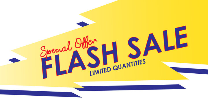 "Flash sale abstract background with text ""Special offer limited quantities"", Vector Banner for shop."