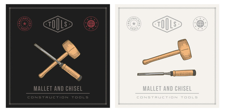 Mallet hammer and Chisel tool
