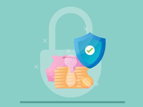 money saving protection concept