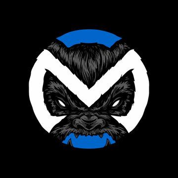 Alphabet M, monster lettering logo design, monster t shirt template