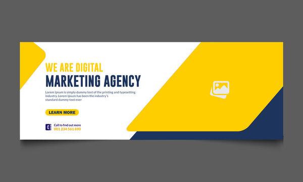 business social media template design professional