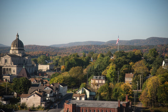 Fall in an Allegheny Mountain Town