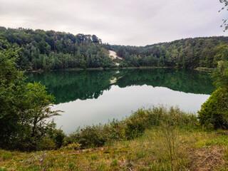 Obraz Jezioro Turkusowe Polska Woliński Park Narodowy - fototapety do salonu