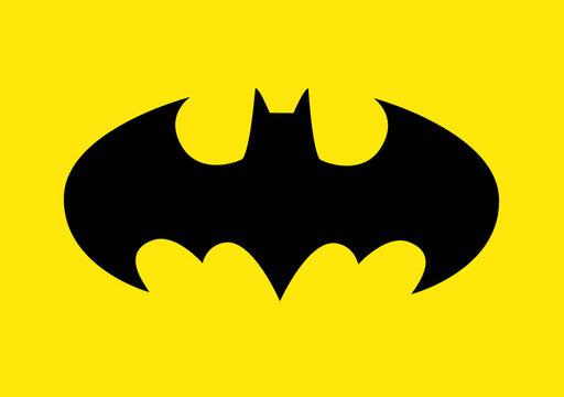 Bologna / Italy - July 26, 2020: The famous Batman logo to celebrate the Batmans 80th birthday.