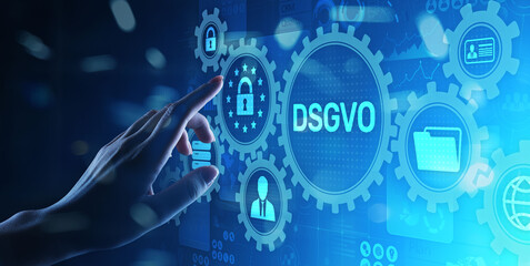 DSGVO, GDPR General data protection regulation european law cyber security personal information privacy concept