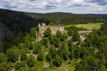 Maiden's Stone castle in the Czech Republic
