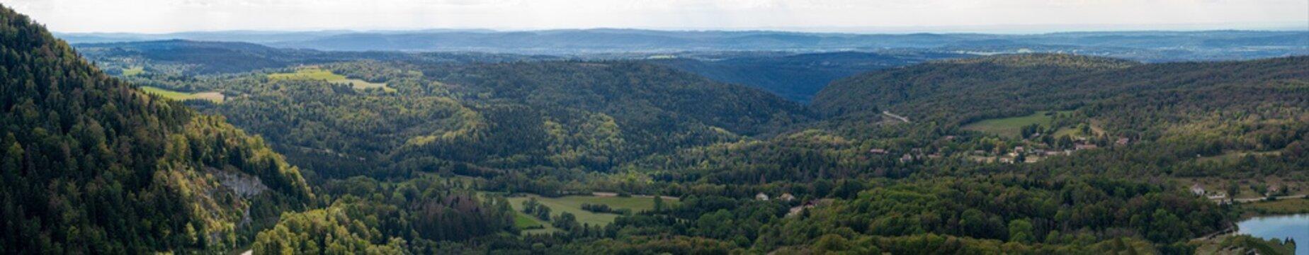 Bonlieu, France - 09 02 2020: Lake District - View from Eagle pe