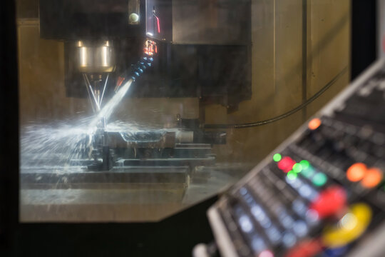 Metalworking CNC lathe milling machine and console