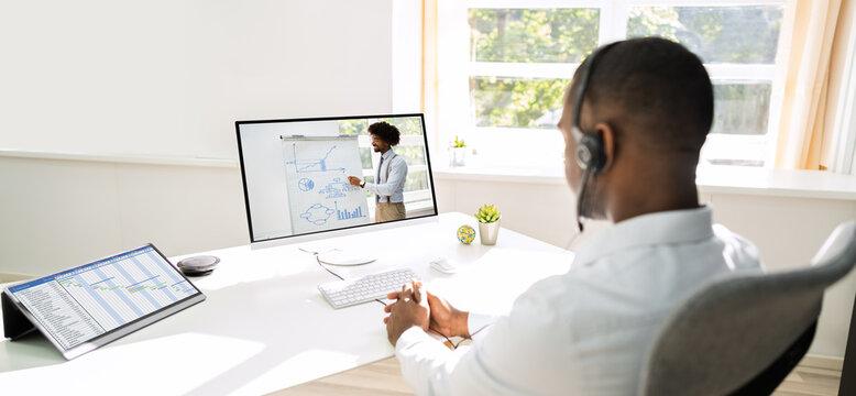 Online Work Video Conference Or Webinar